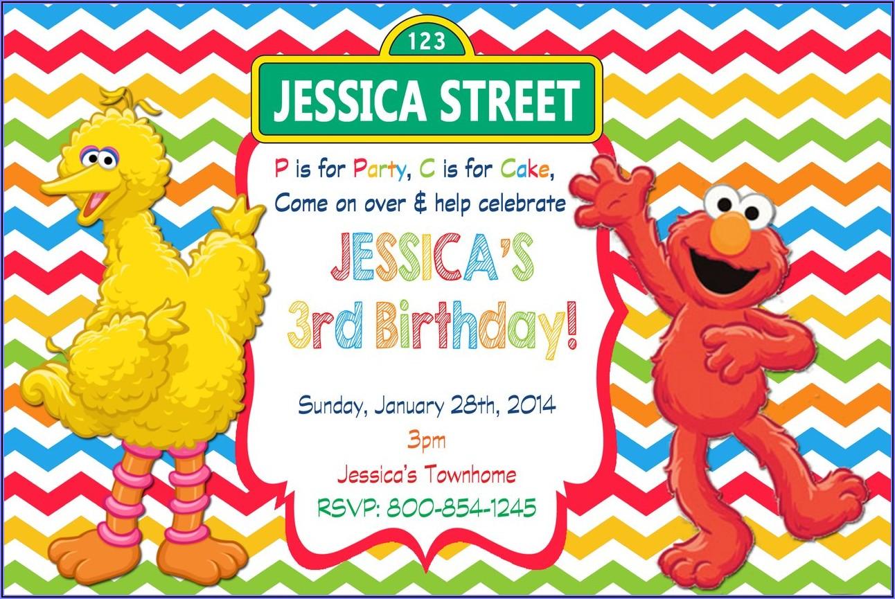 Free Printable Sesame Street Birthday Party Invitations