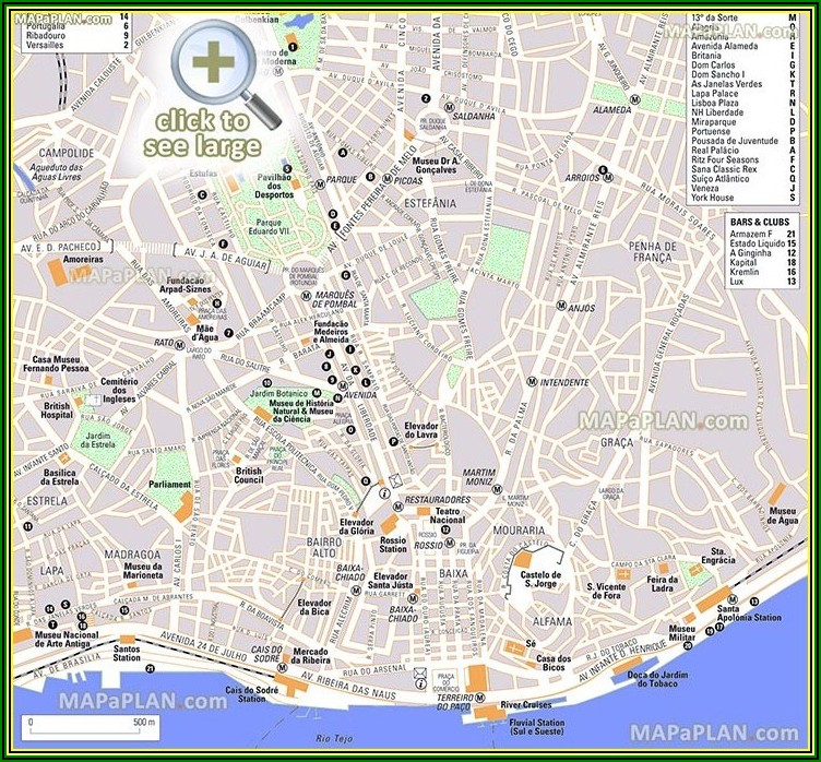 Free Printable Tourist Map Of Paris