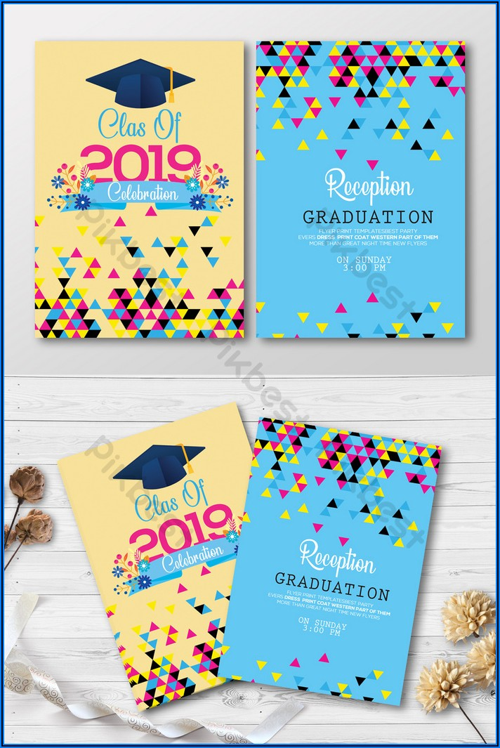 Free Psd Graduation Invitation Templates