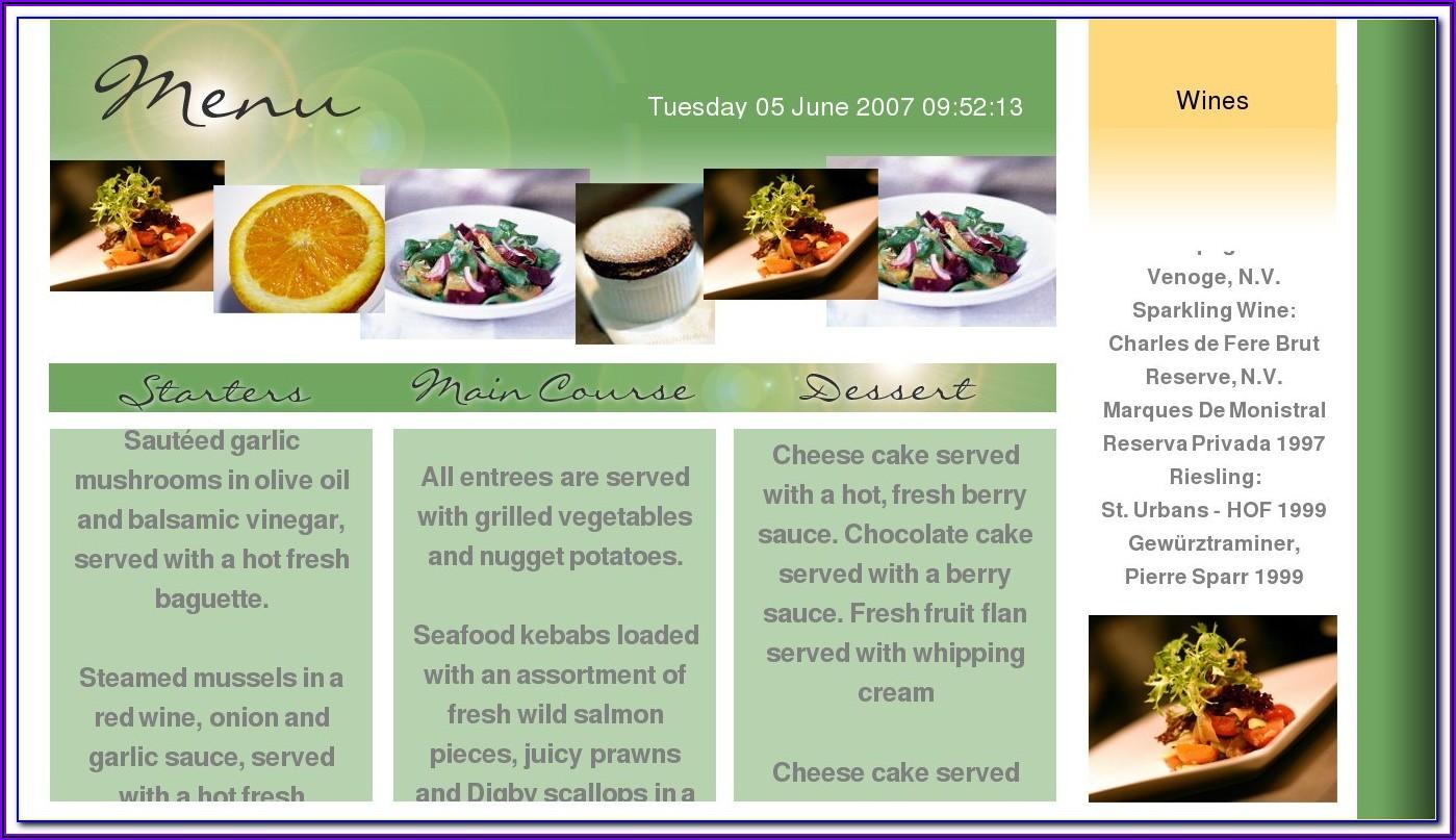 Free Restaurant Brochure Templates Psd