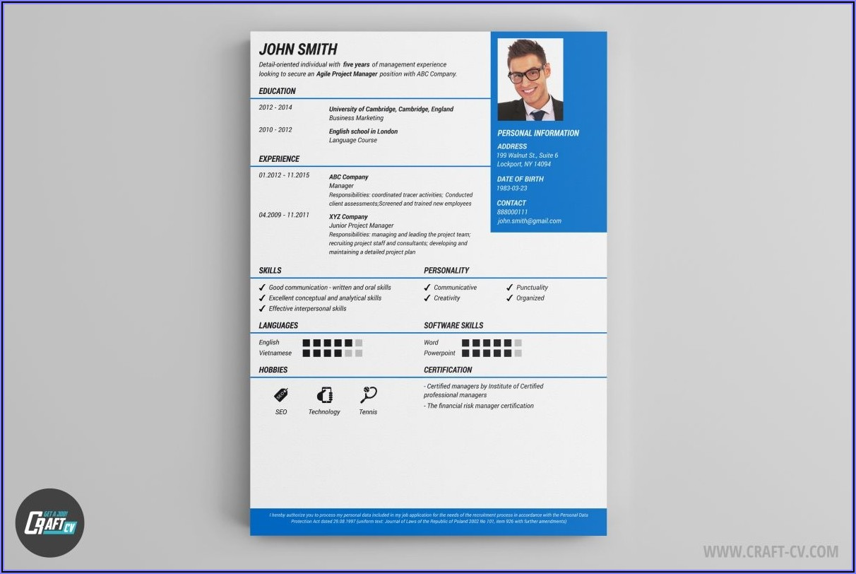 Free Resume Sample Templates Download