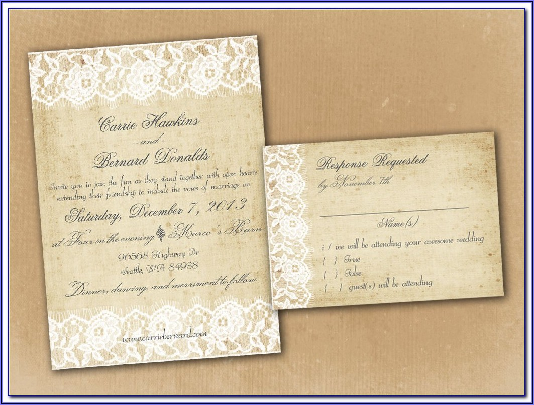 Free Rustic Printable Wedding Invitation Templates For Word