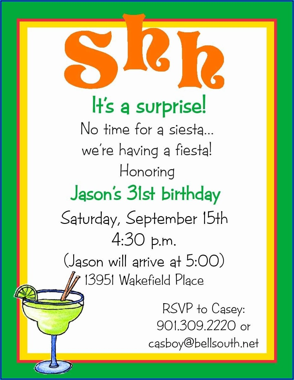 Free Surprise Birthday Invitations For Him