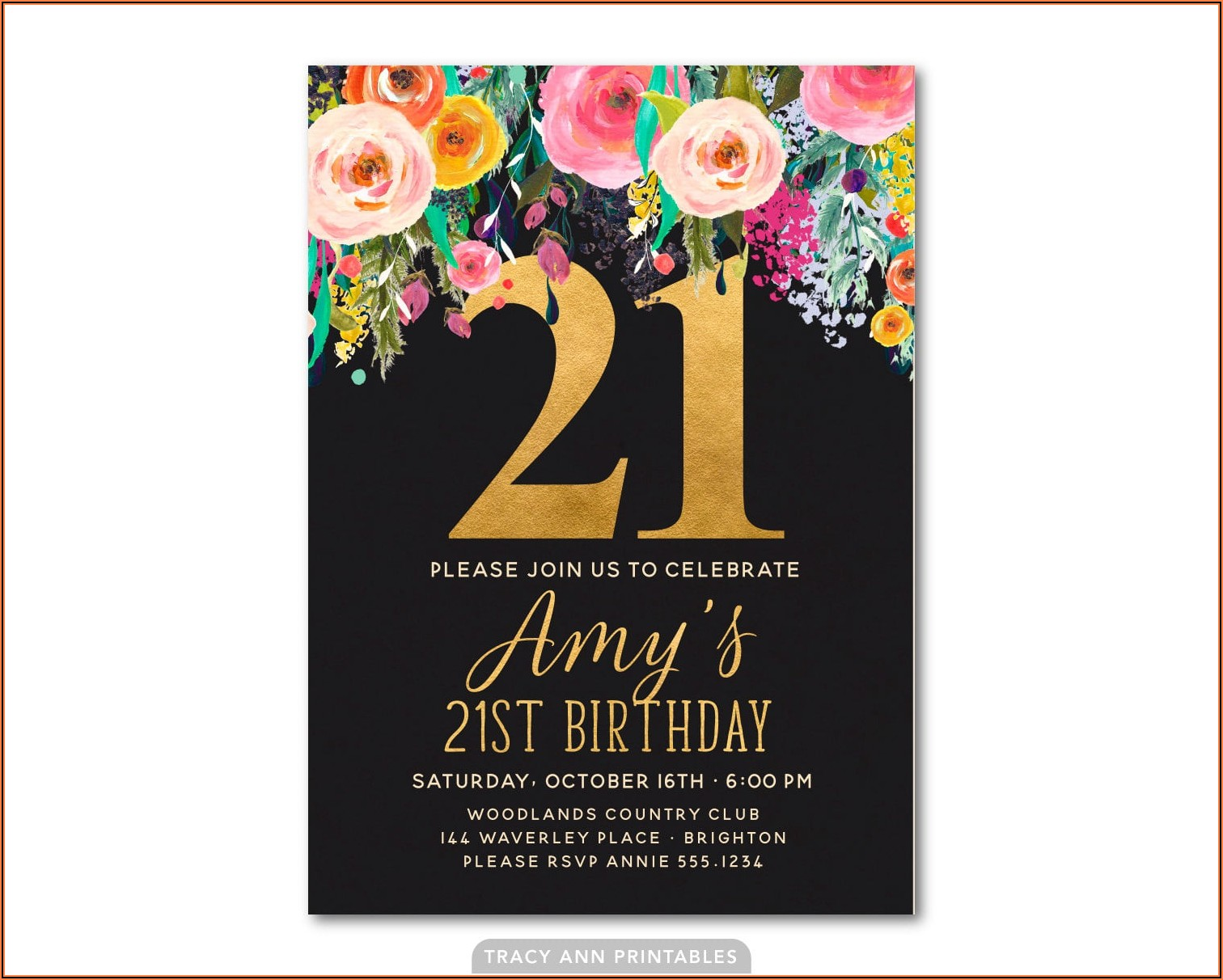 Free Templates For 21st Birthday Party Invitations