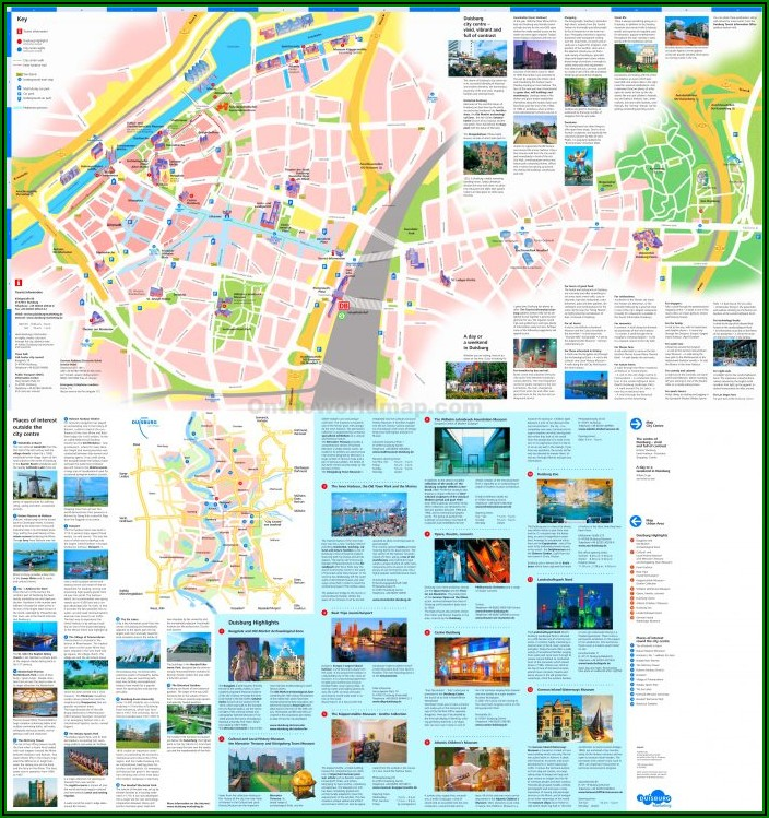 Free Tourist Map Of Paris