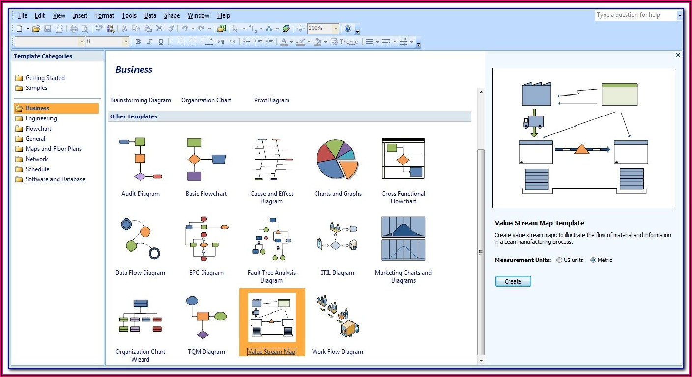 Free Visio Value Stream Mapping Template