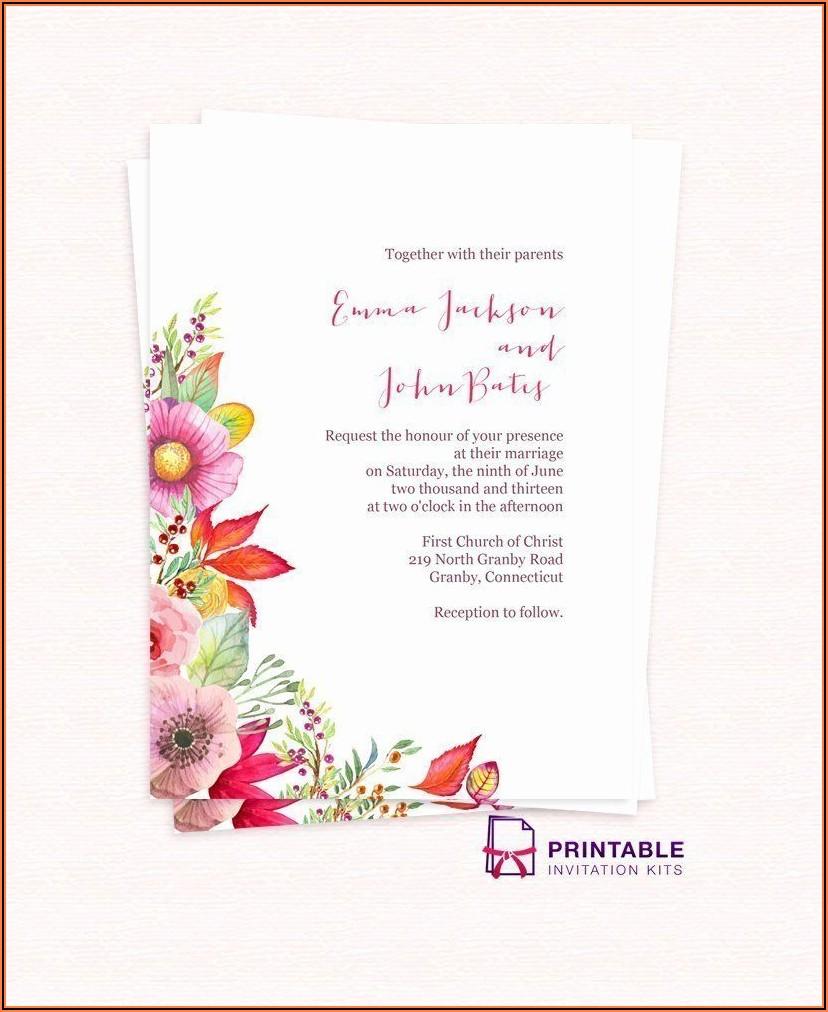 Free Wedding Invitation Maker Download
