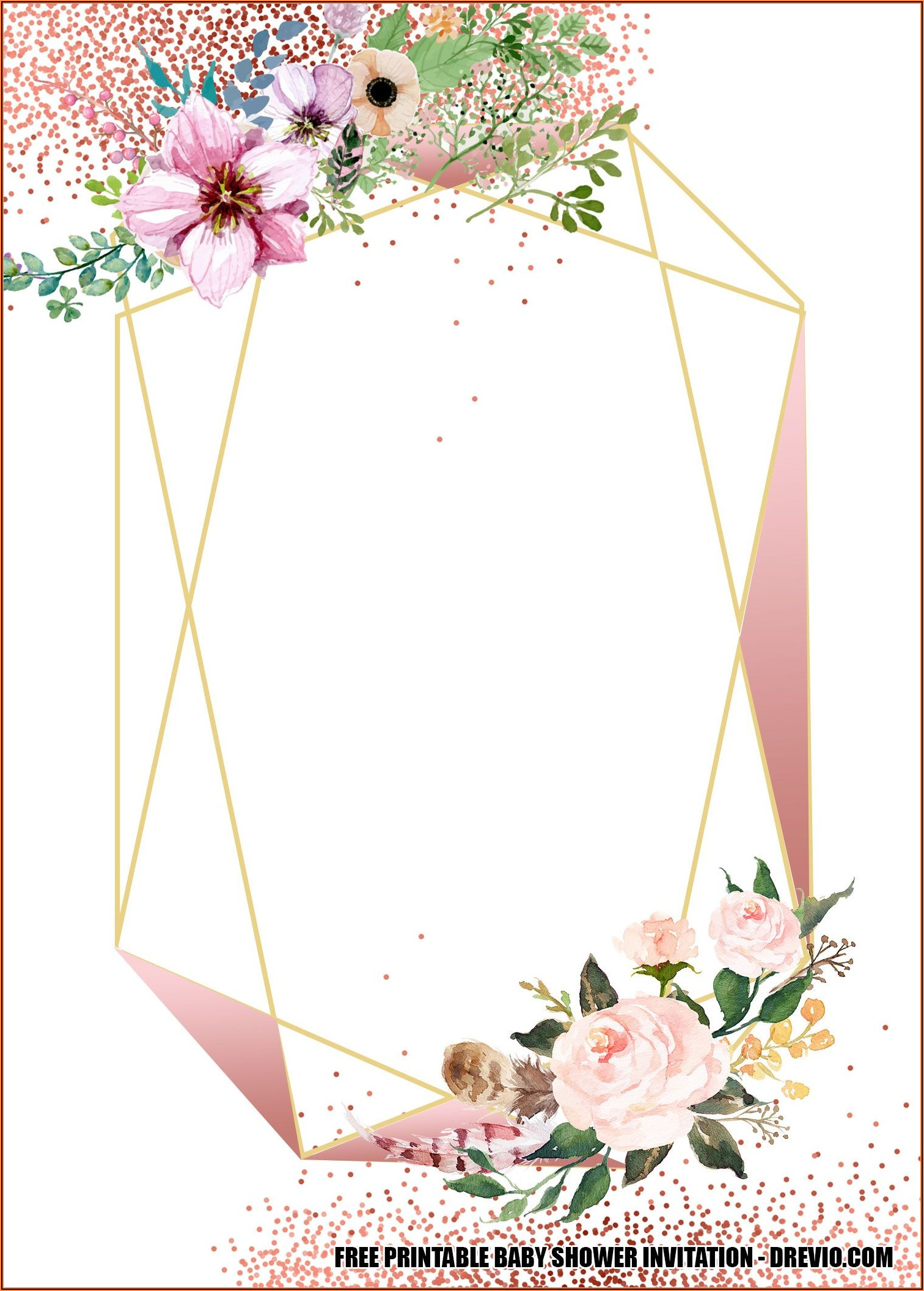 Free Wedding Invitation Templates Floral
