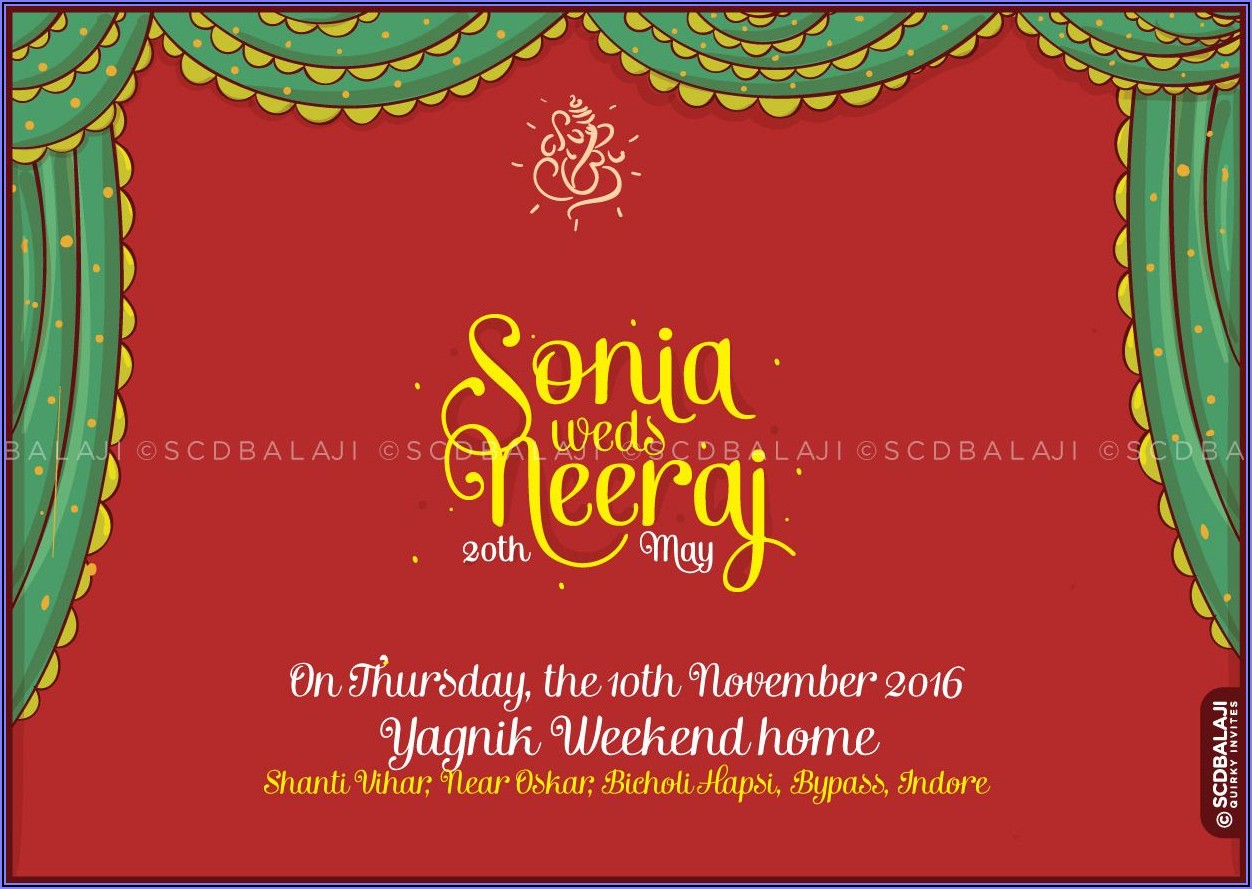 Free Wedding Invitation Templates For Word Indian