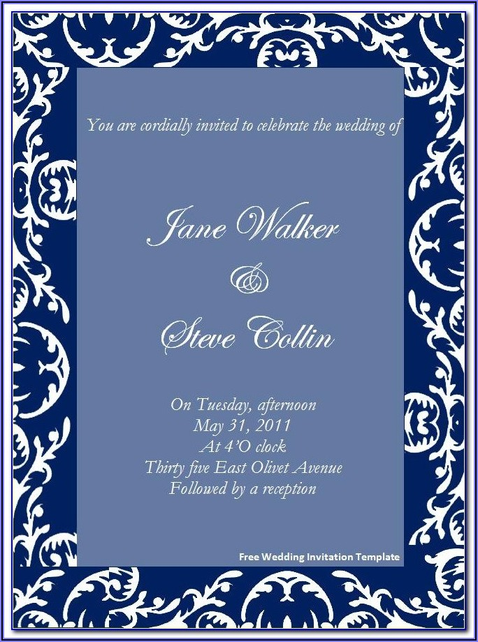 Free Wedding Invitation Templates For Word Muslim