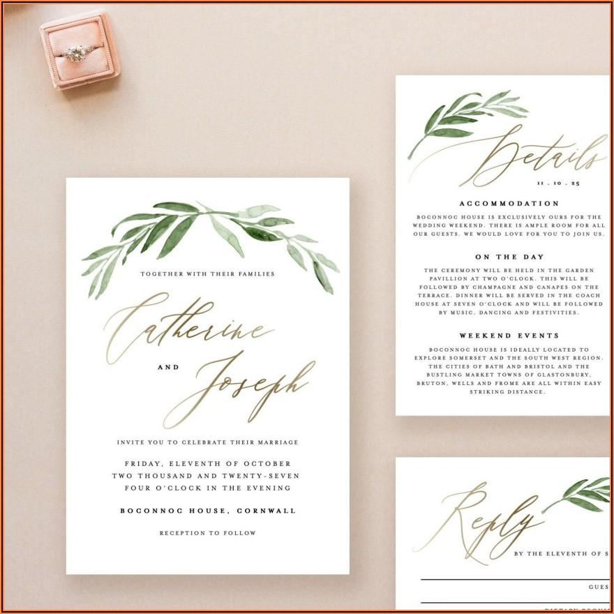 Free Wedding Invitation Templates Online