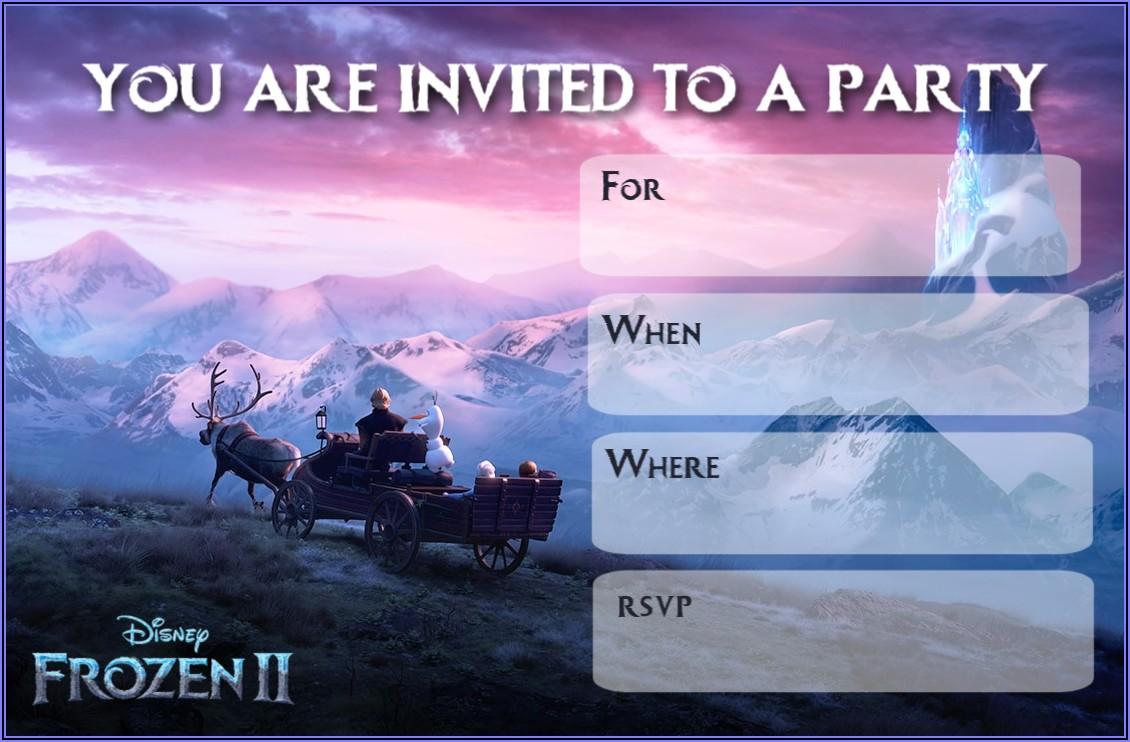 Frozen 2 Birthday Invitations Blank