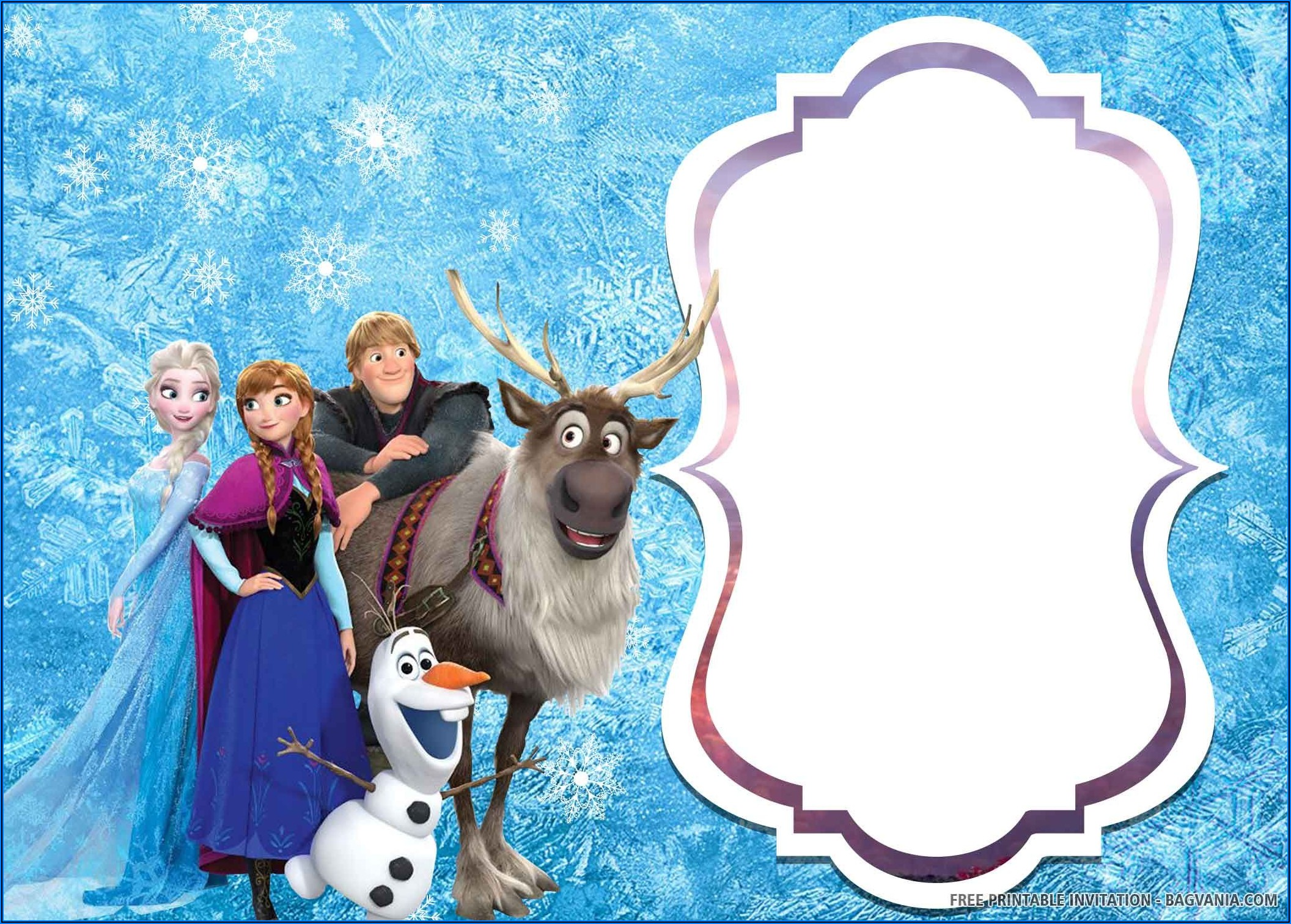Frozen 2 Birthday Invitations Template