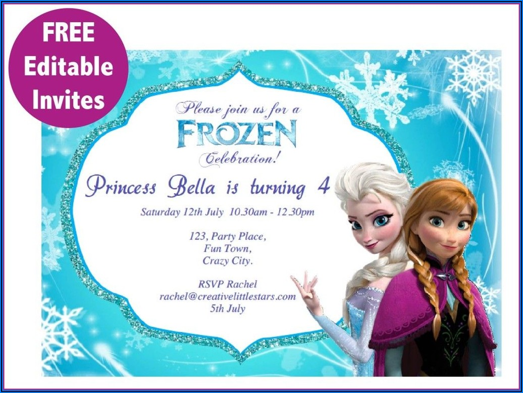 Frozen Birthday Invitations Free