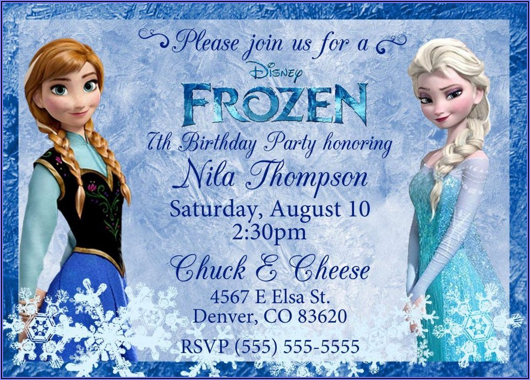 Frozen Birthday Invitations Online