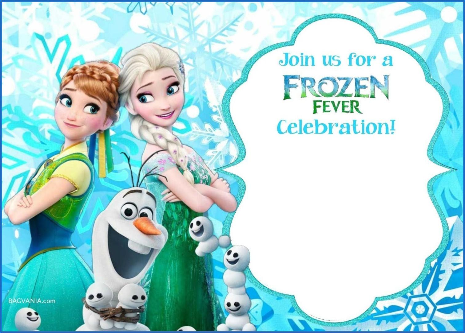 Frozen Birthday Invitations Template