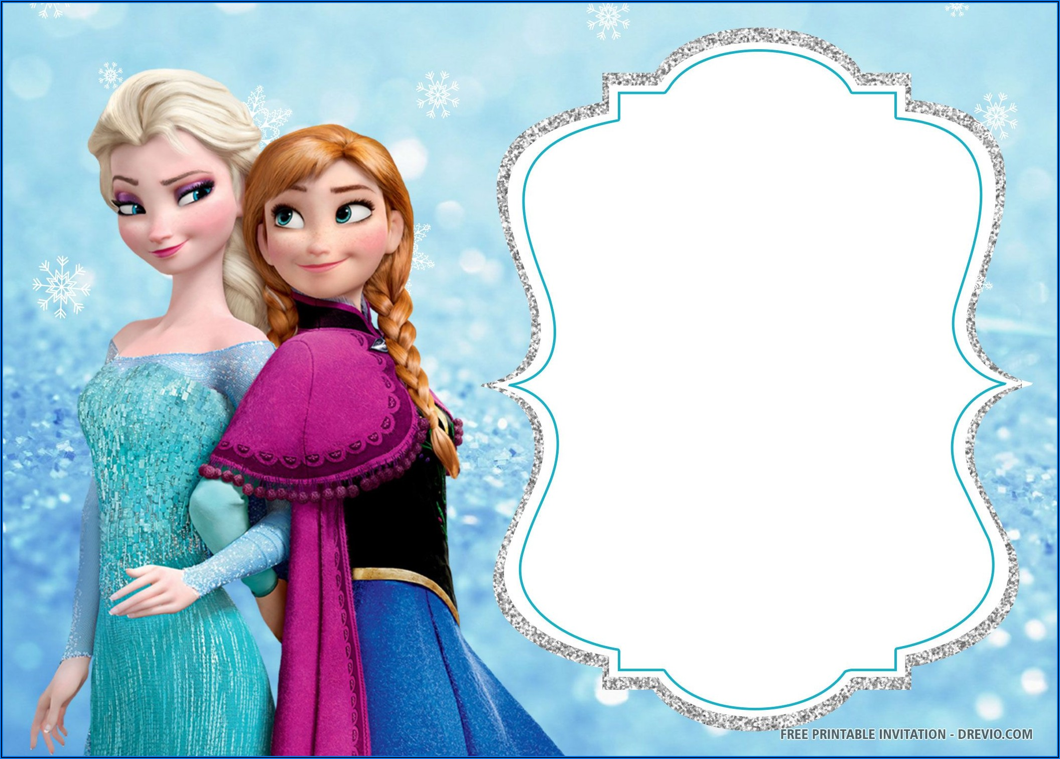 Frozen Birthday Invitations Templates Free