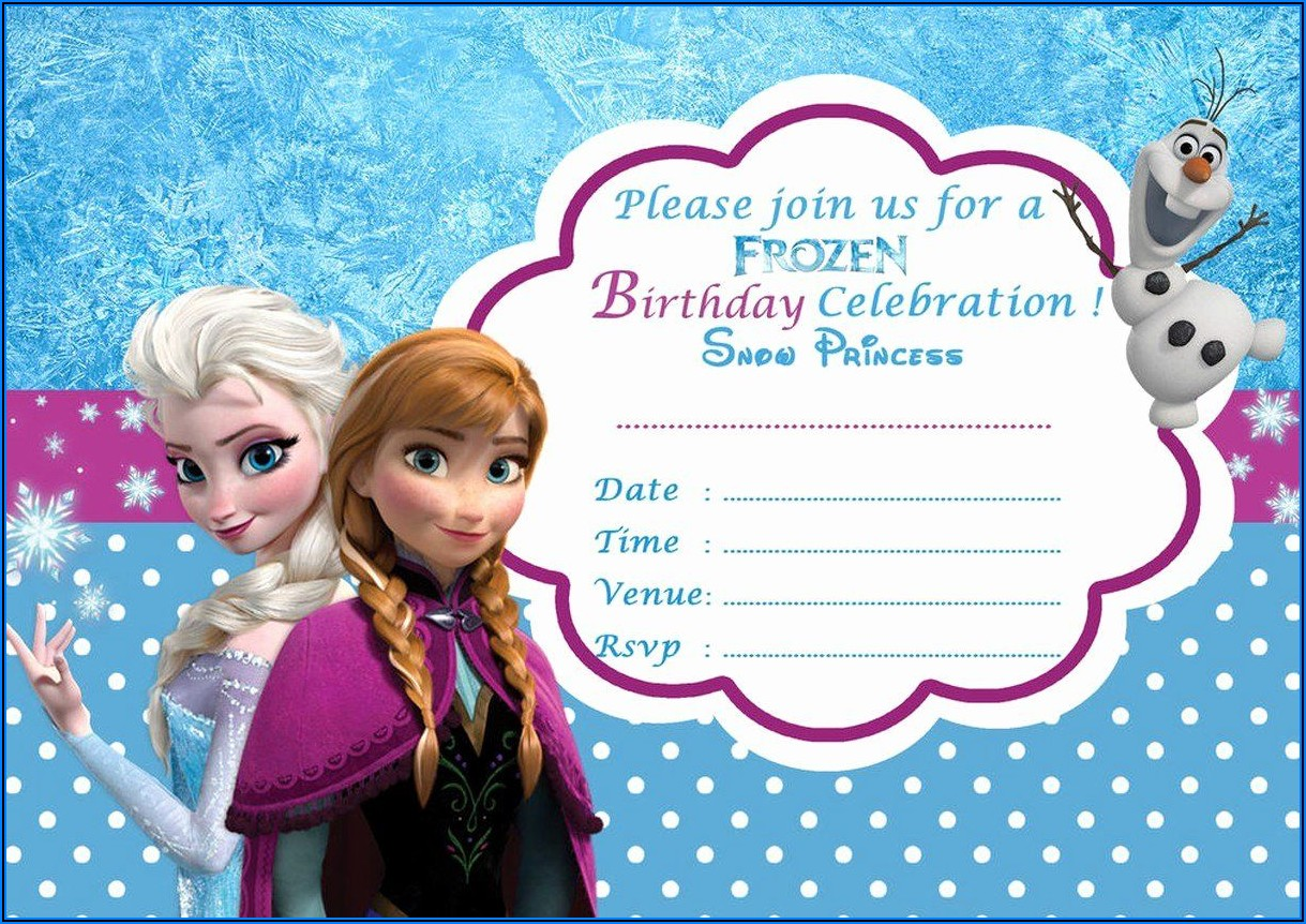 Frozen Birthday Invite Free