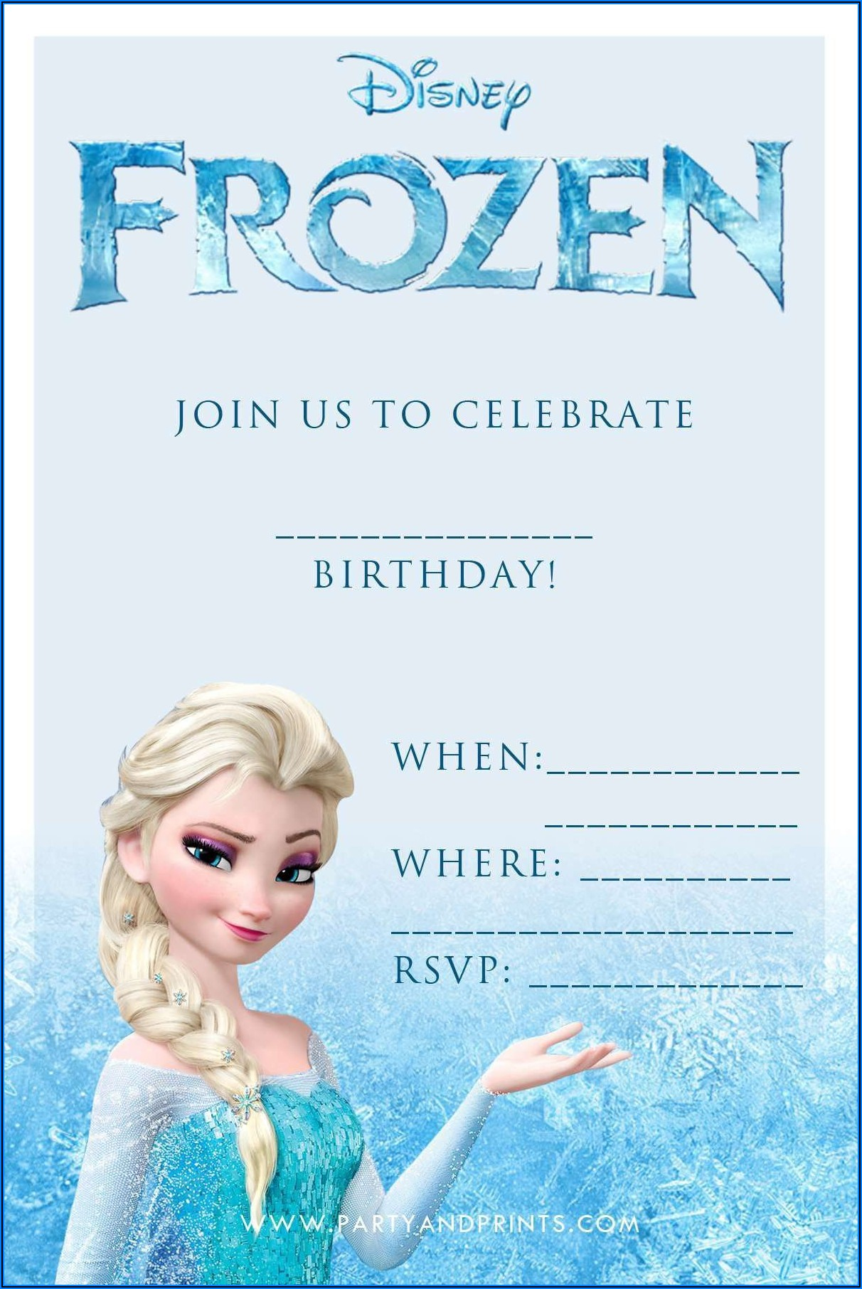 Frozen Birthday Party Invitations Online Free