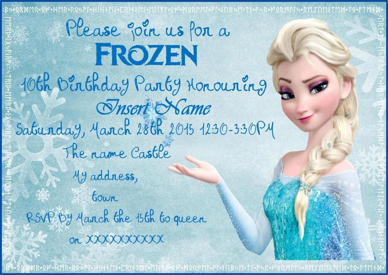Frozen Birthday Party Invite Free