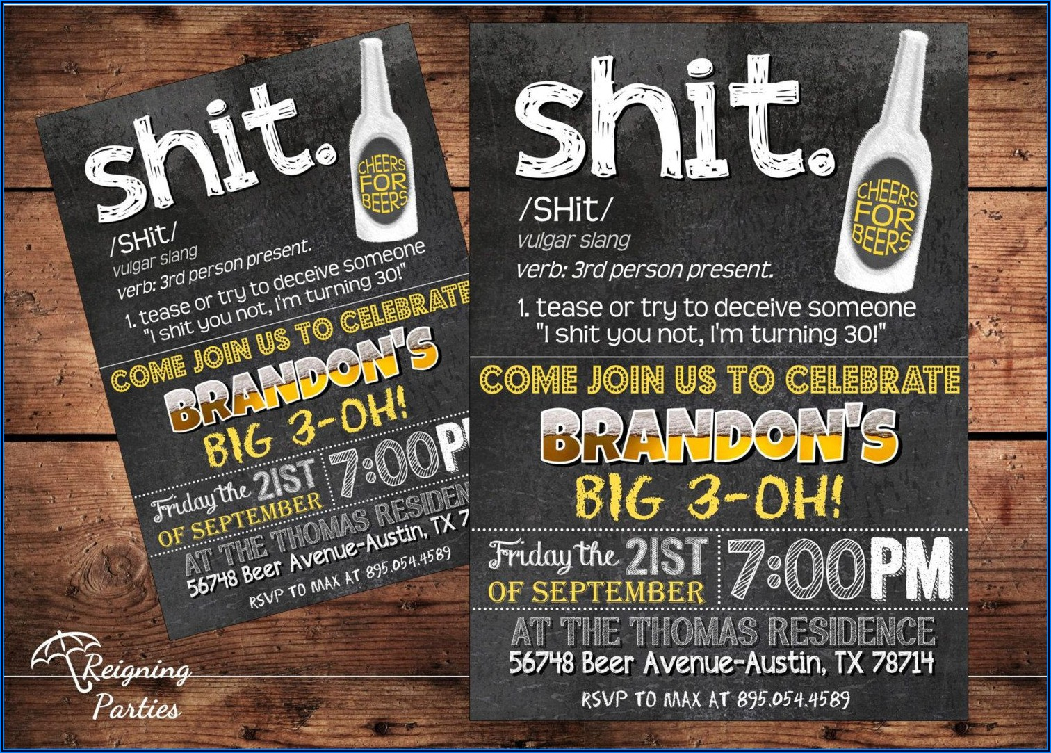 Funny 40th Surprise Birthday Invitations