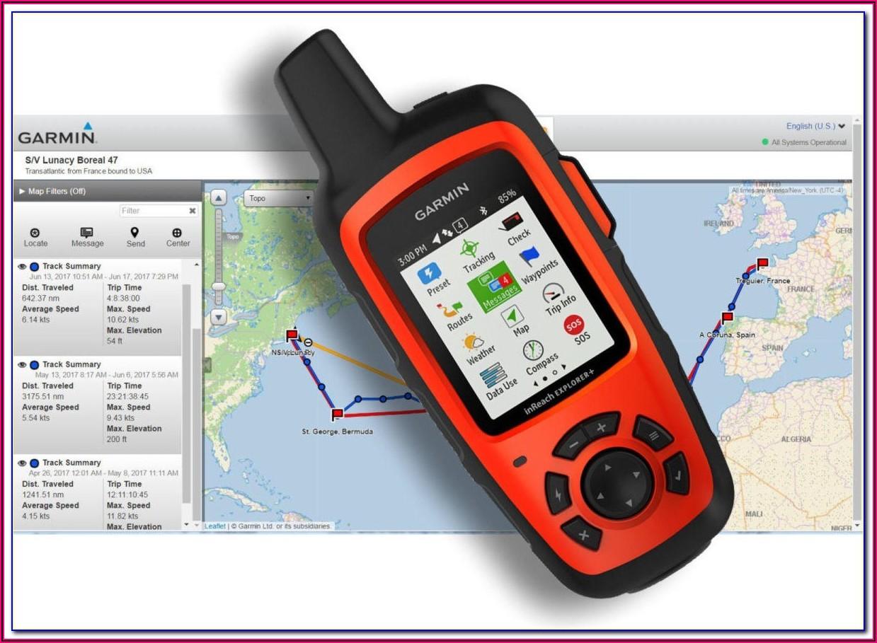 Garmin Inreach Explorer Mapshare