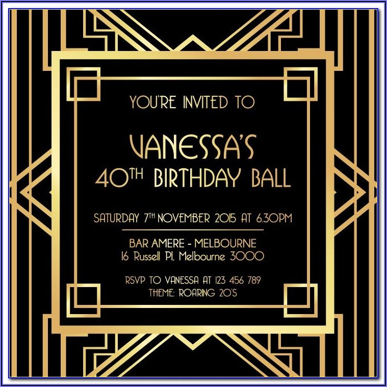 Gatsby Wedding Invitation Template Free