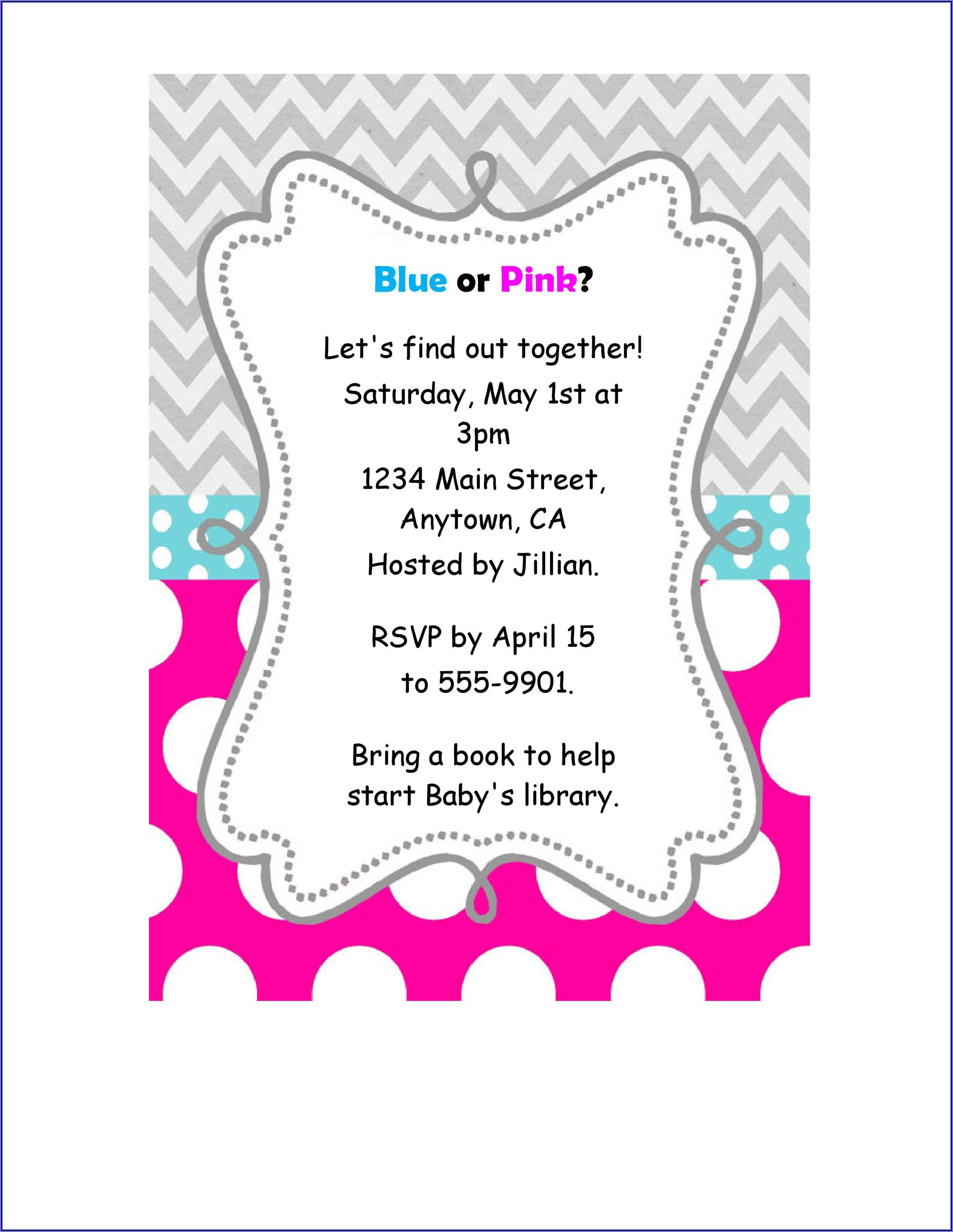 Gender Reveal Invitations Free