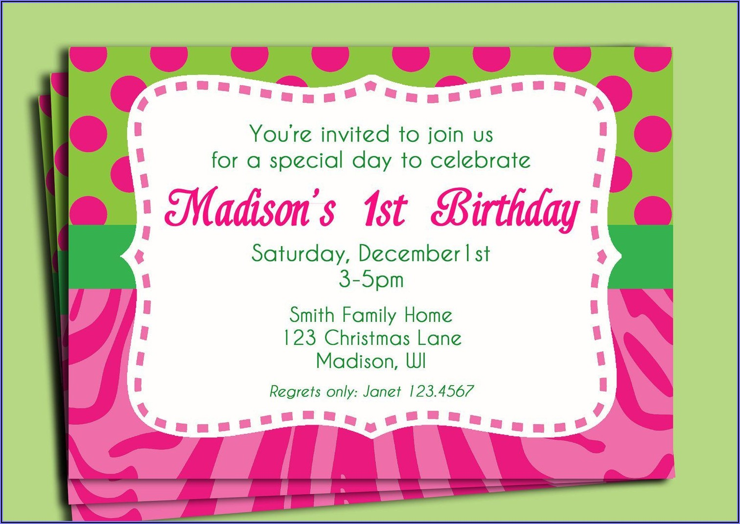 Girl 5th Birthday Party Invitation Wording