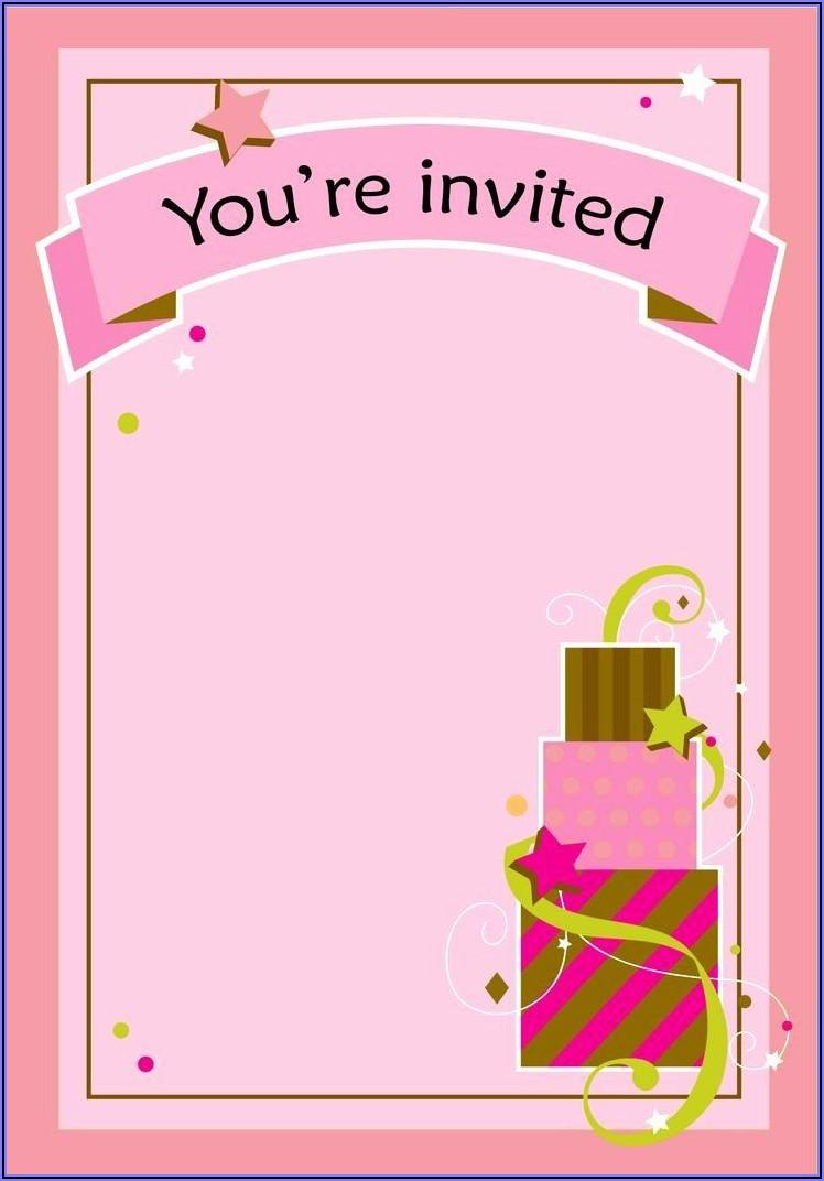 Girl Birthday Invitations Templates (free)