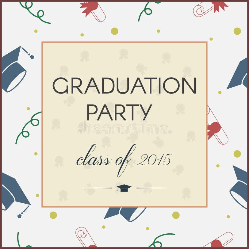 Graduation Ceremony Invitation Card Background