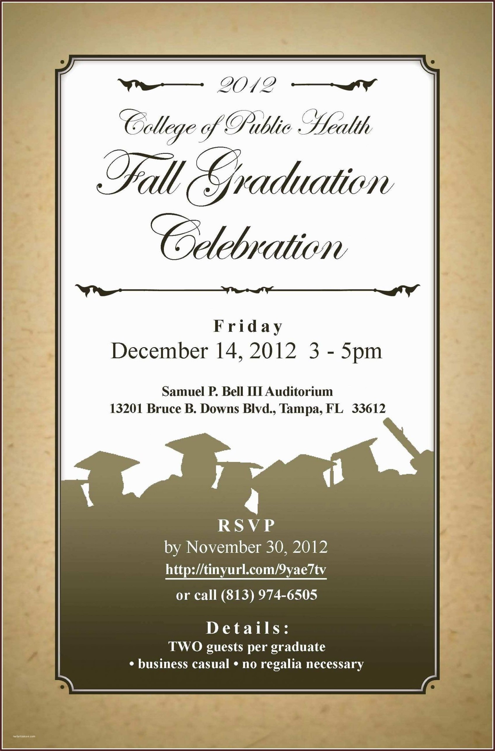 Graduation Dinner Invitation Card Sample