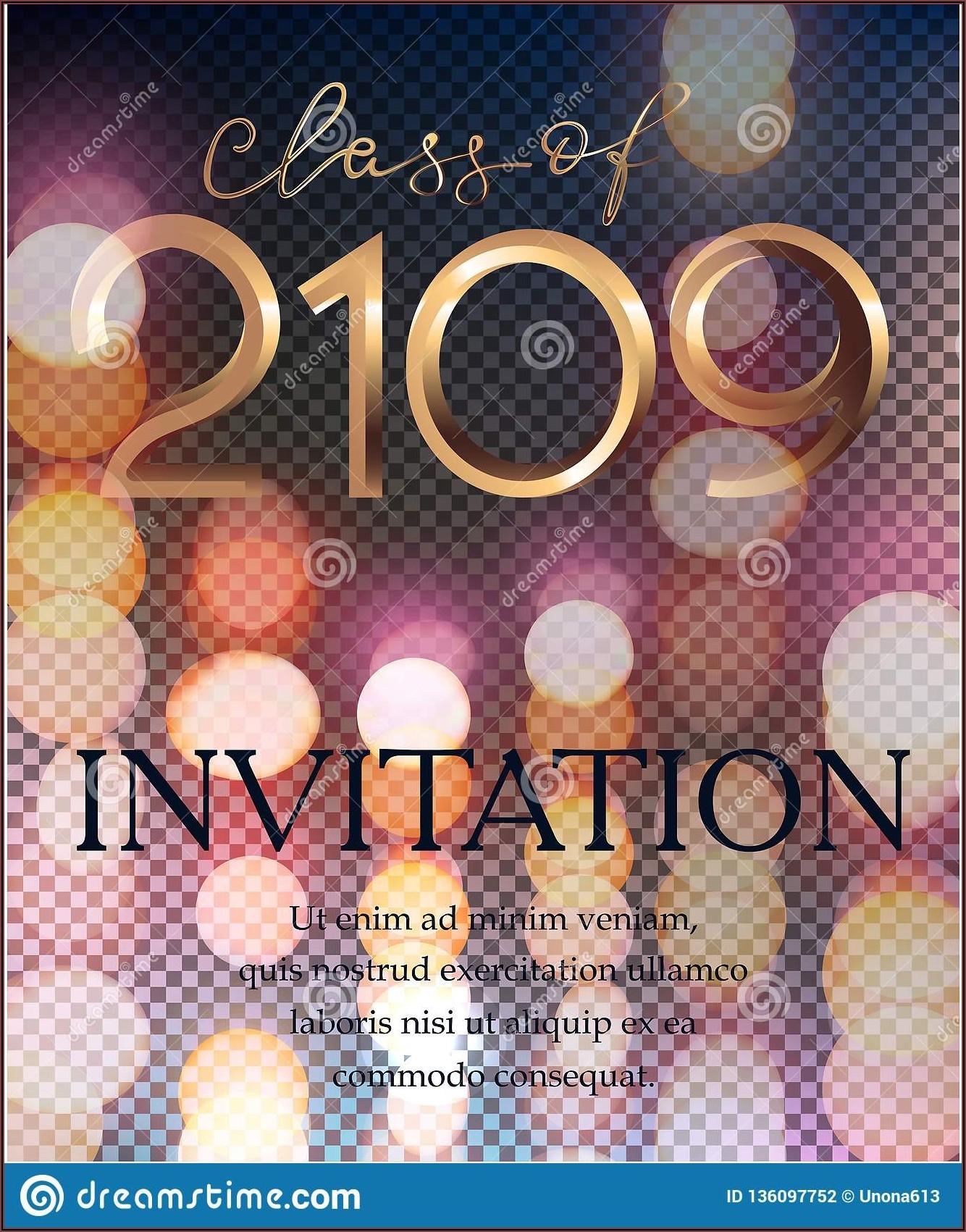 Graduation Invitation Card Background