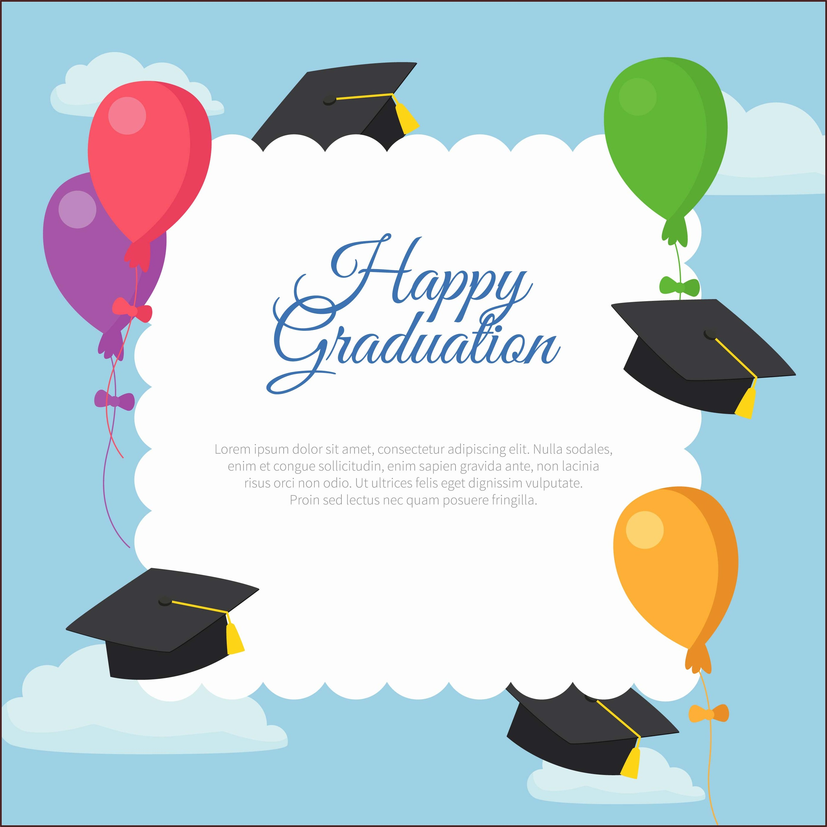 Graduation Invitation Card Design Vector Free Download