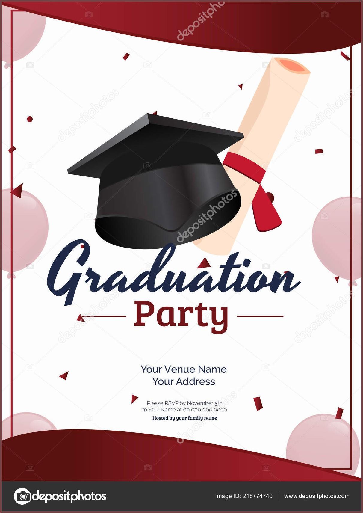 Graduation Invitation Card Design