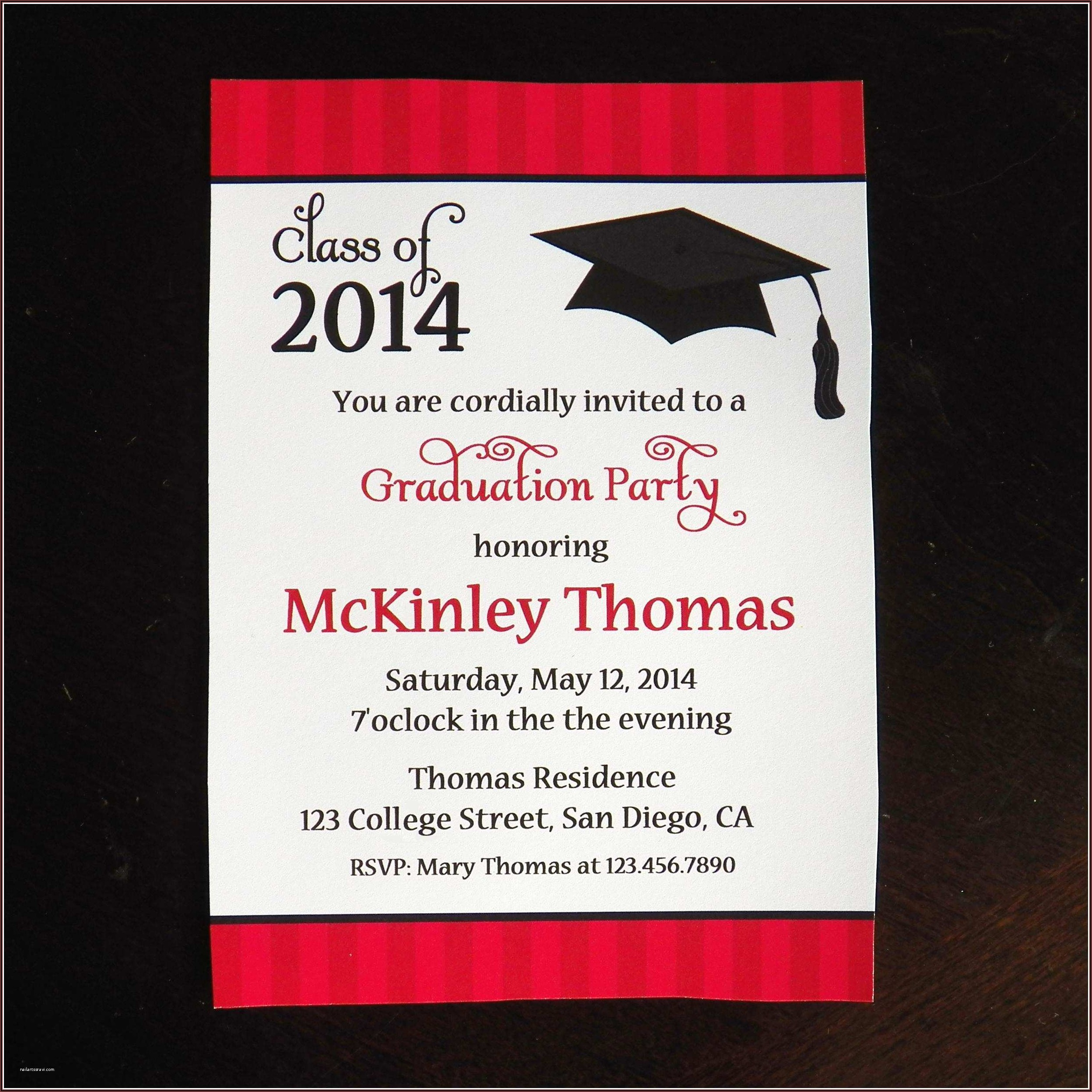 Graduation Invitation Card Format