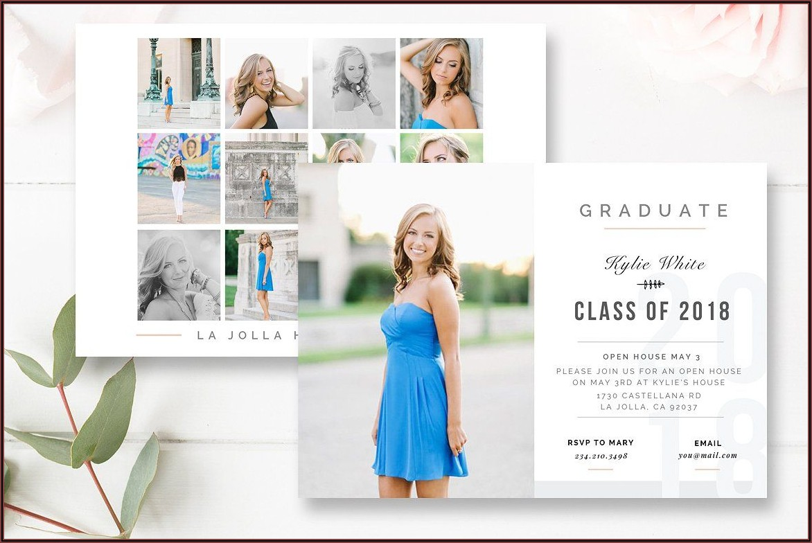 Graduation Invitation Card Psd Template