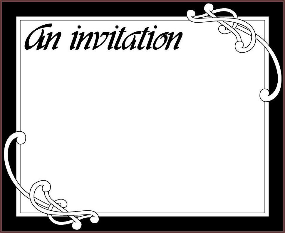 Graduation Invitation Card Template Free
