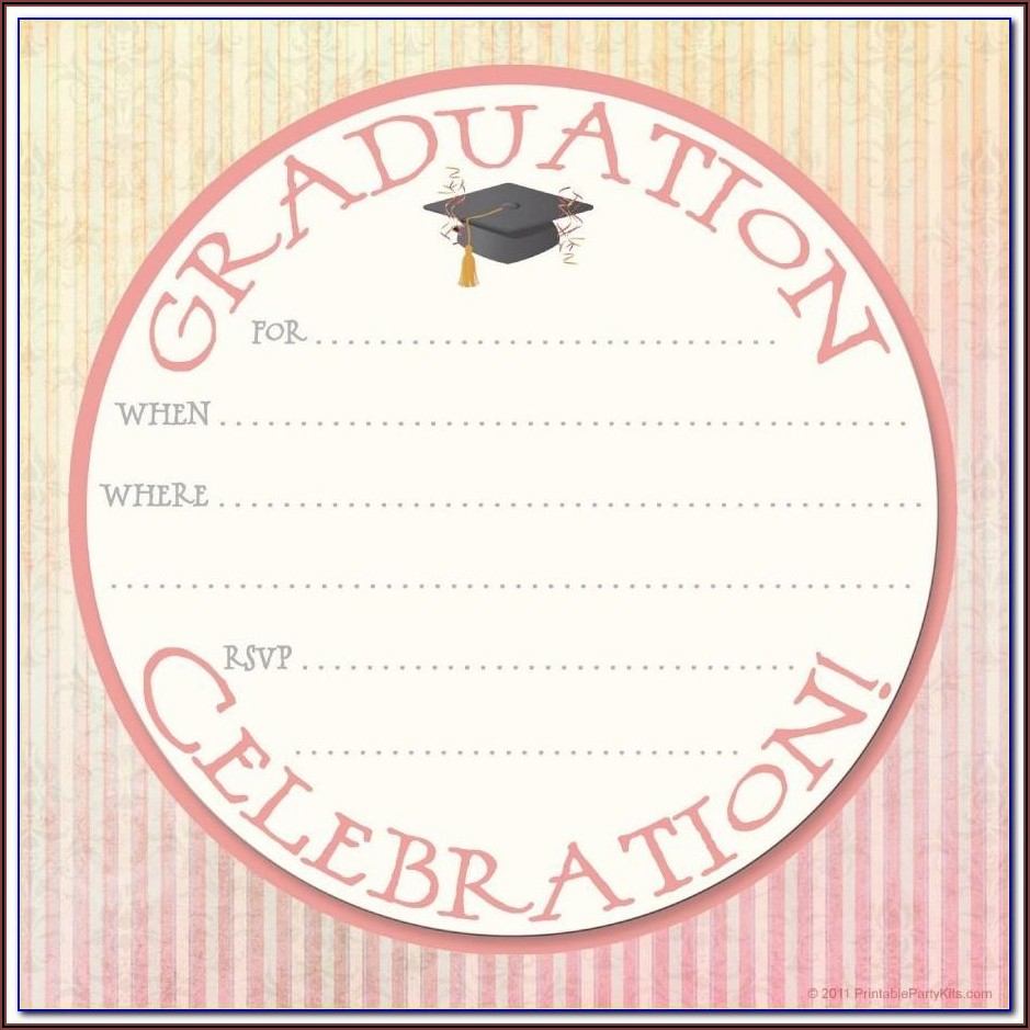 Graduation Invitation Card Templates