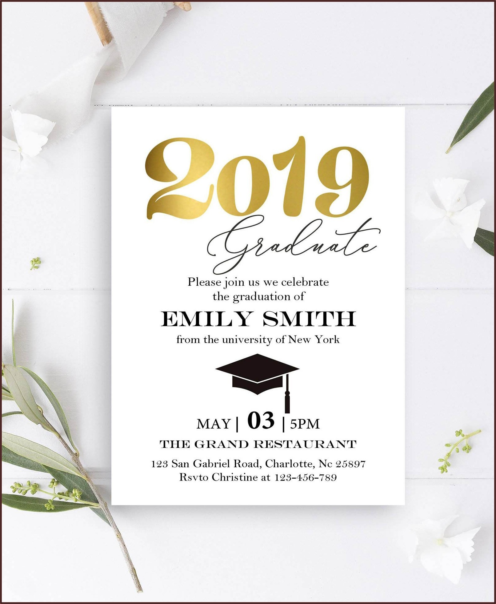Graduation Invitation Card Wording