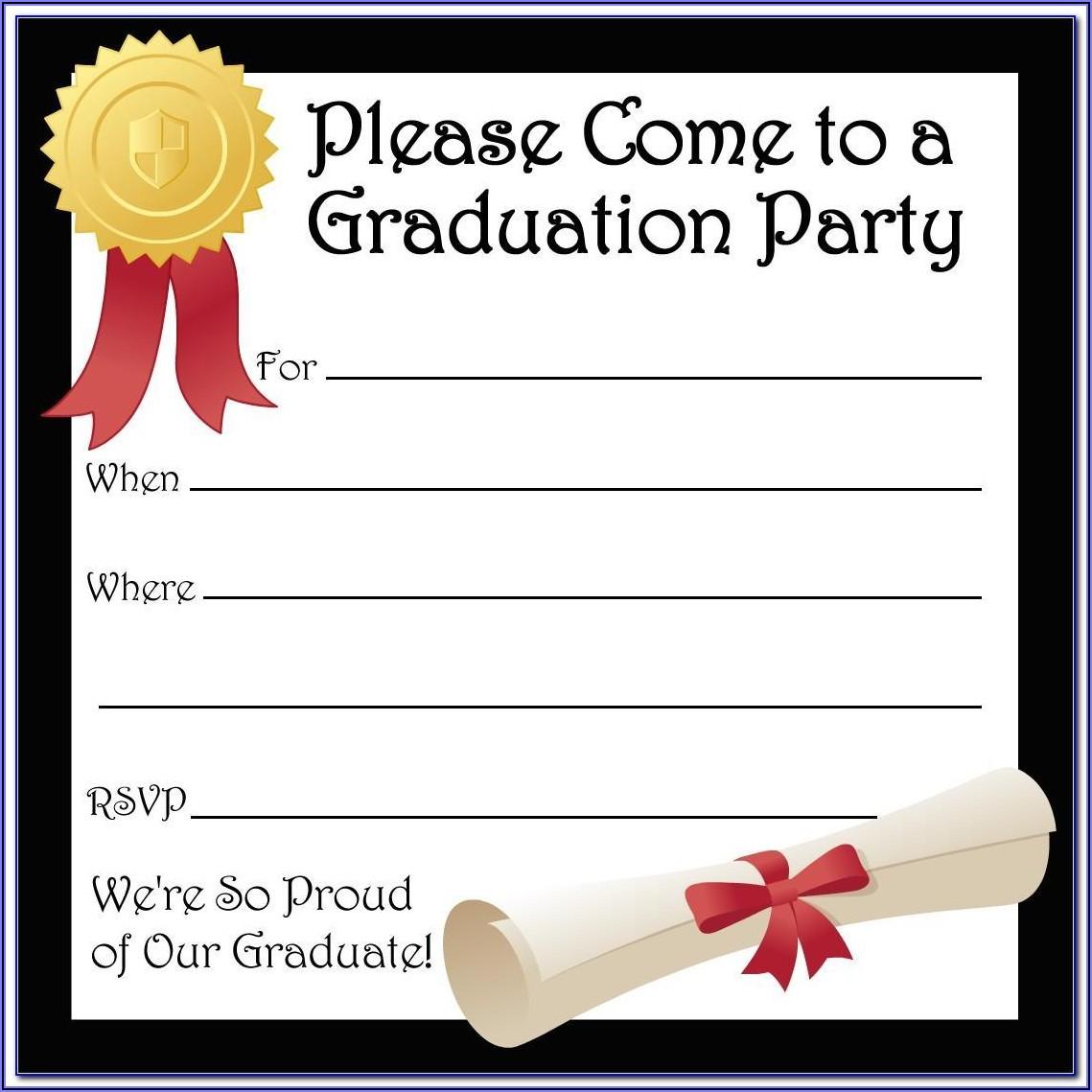 Graduation Invite Template Word