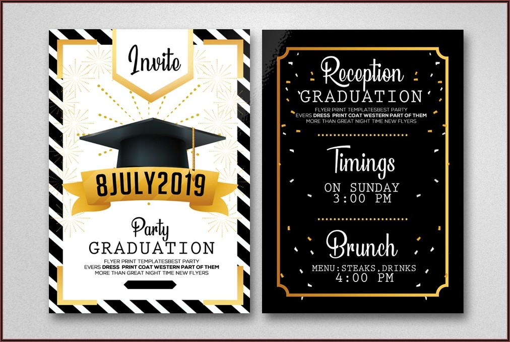 Graduation Party Invitation Card Example