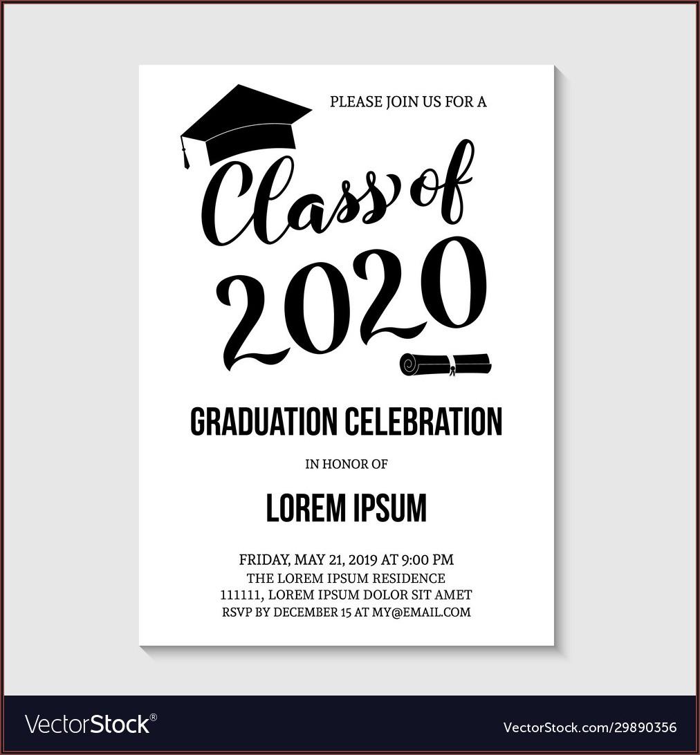 Graduation Party Invitation Card Template
