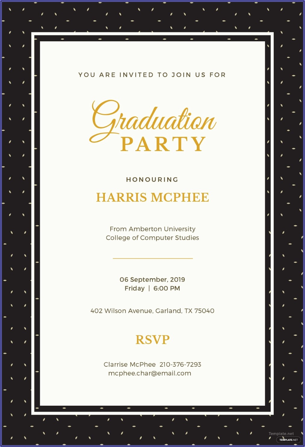 Graduation Party Template Word