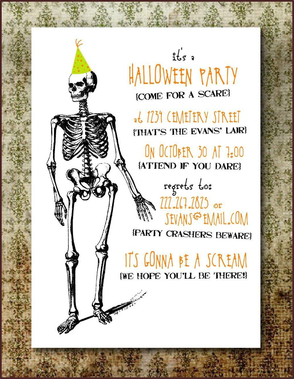 Halloween Invitation Wording Adults Only