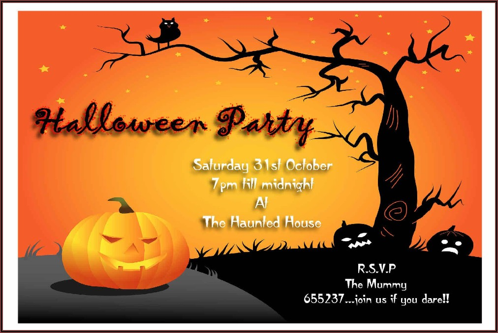 Halloween Invitation Wording Adults