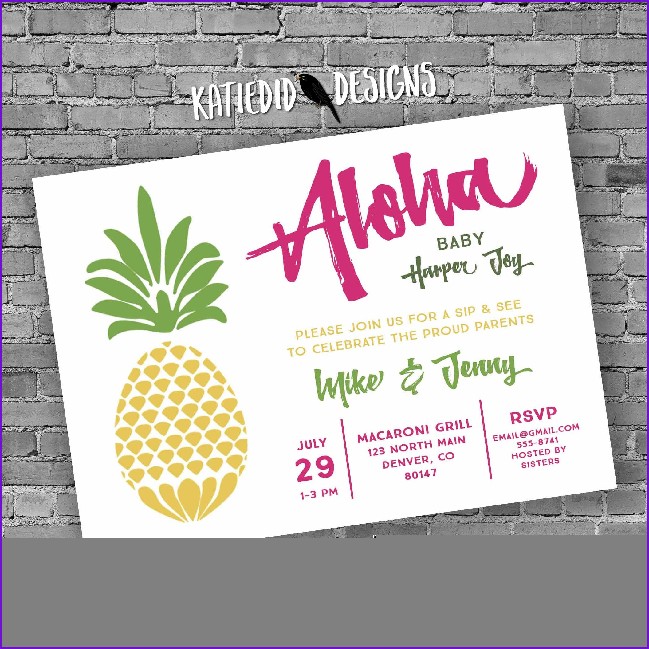 Hawaiian Invitation Designs