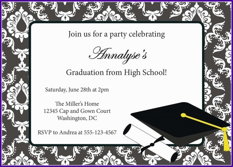 High School Open House Invitation Wording