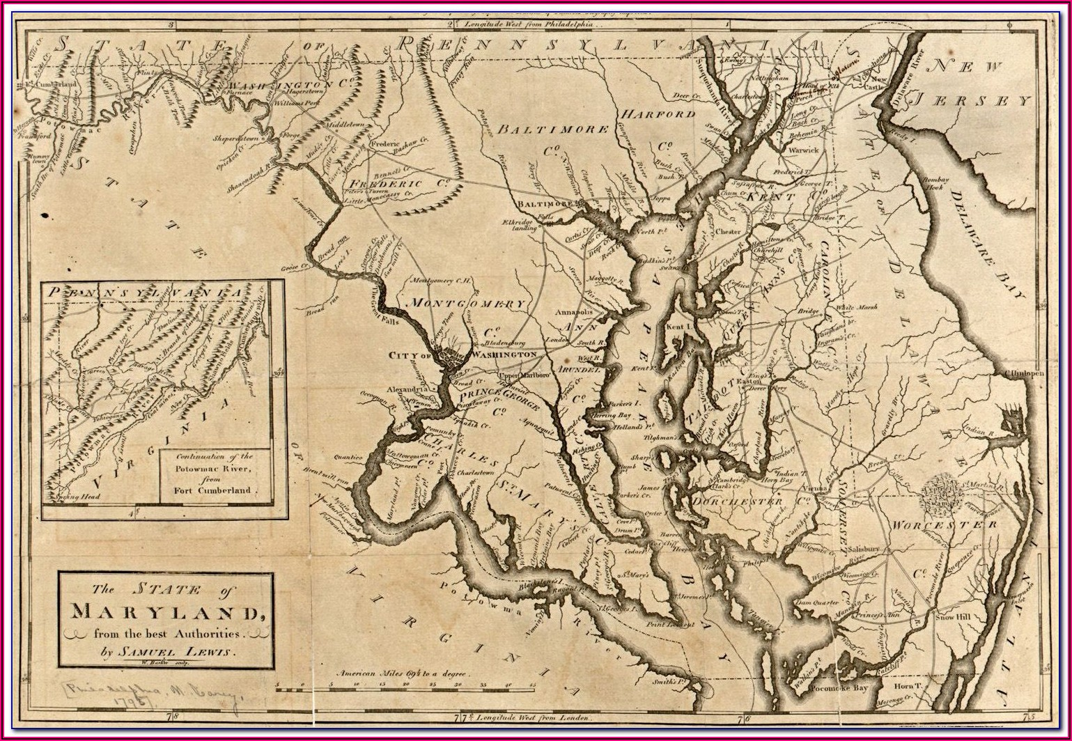 Historic Maps Of Baltimore County Maryland