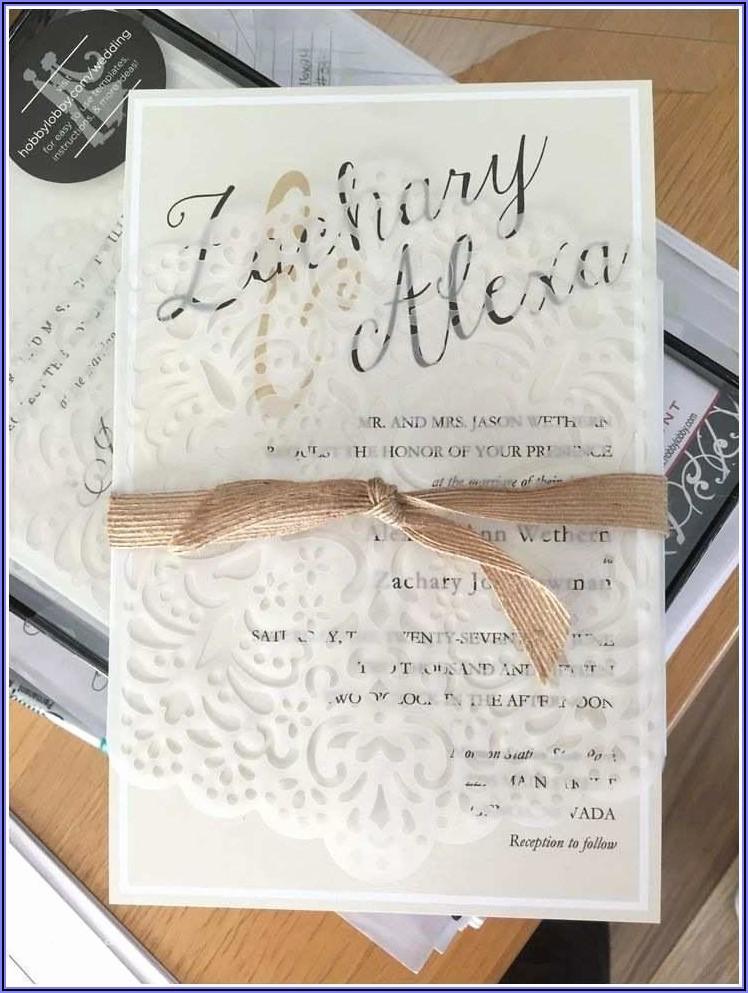 Hobby Lobby Wedding Invitation Reviews